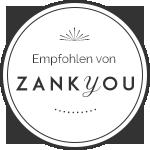 Empfohlen von ZANKYOU! Dir führende Site für Hochzeitsplanungen von A-Z!